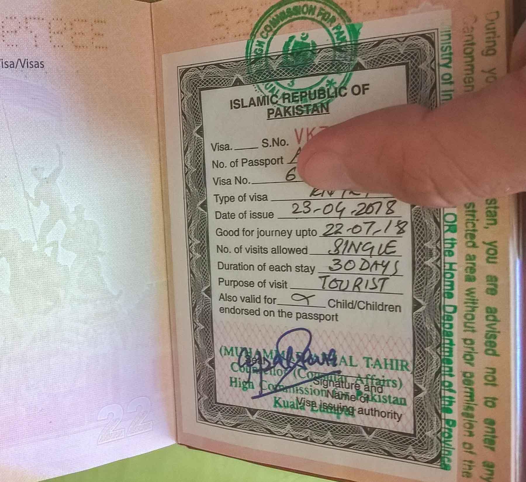 how to get Pakistan visa in kuala lumpur