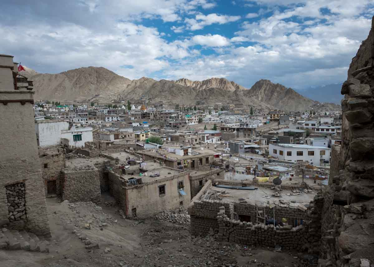 Leh in Ladakh, a hill station in north india