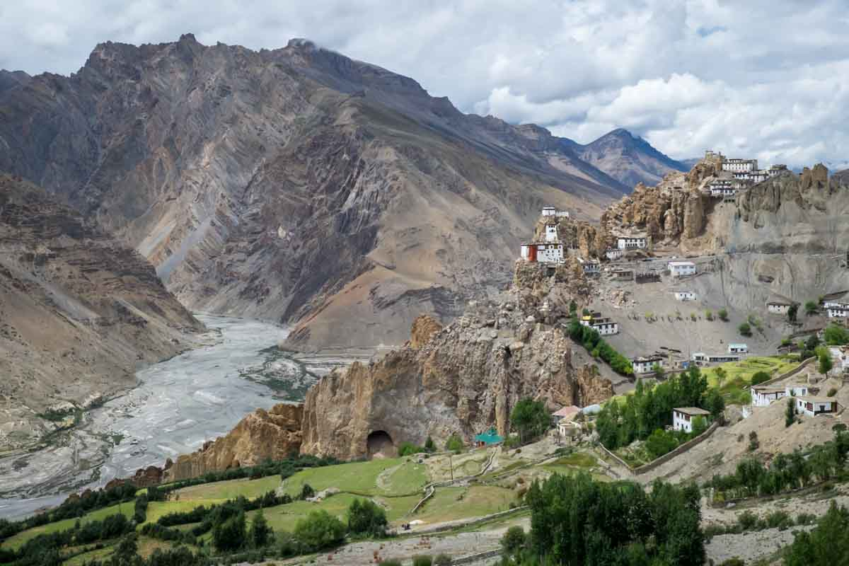 Dhankar in Spiti, , a hill station in north india