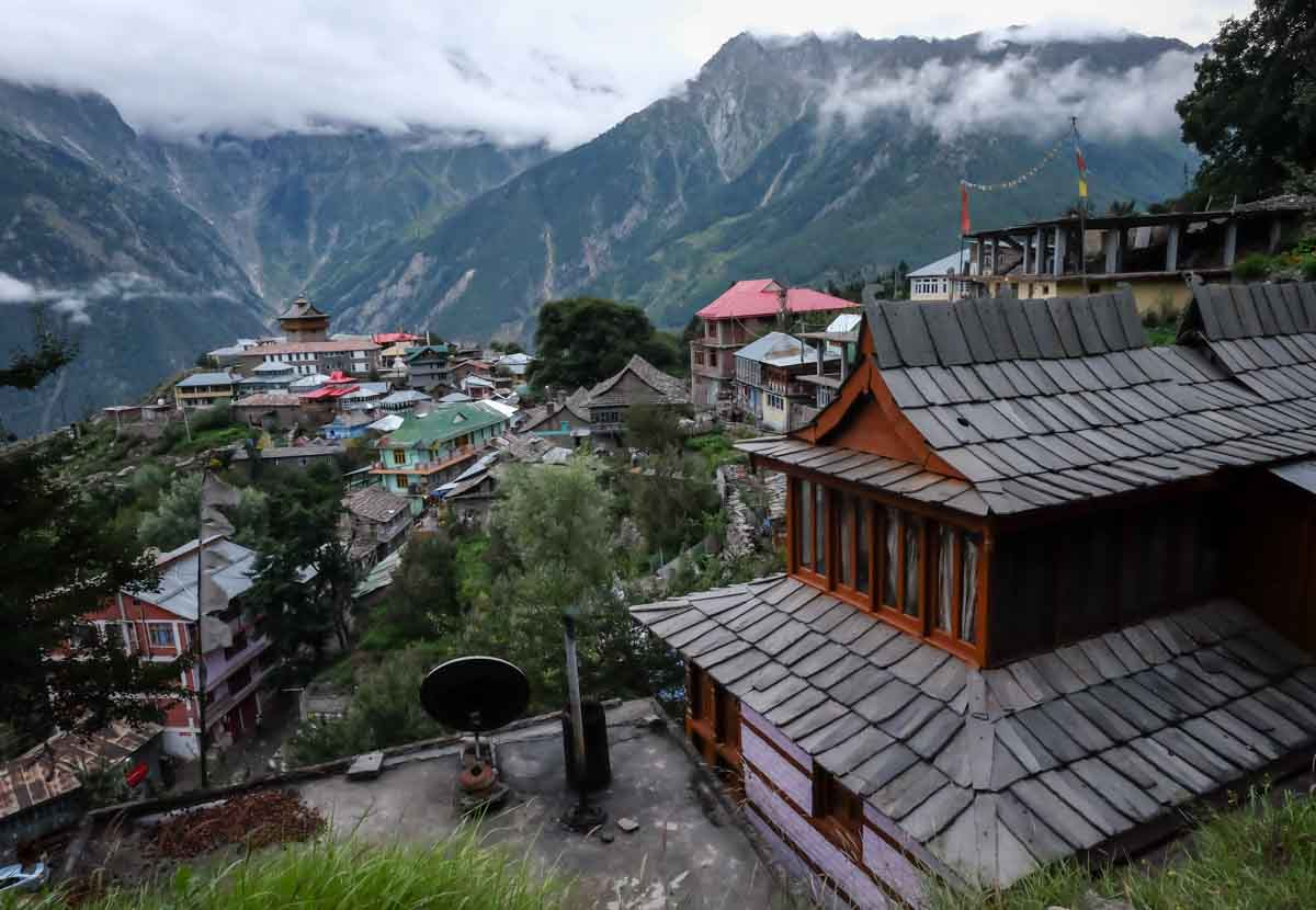 Kalpa hill station in north india