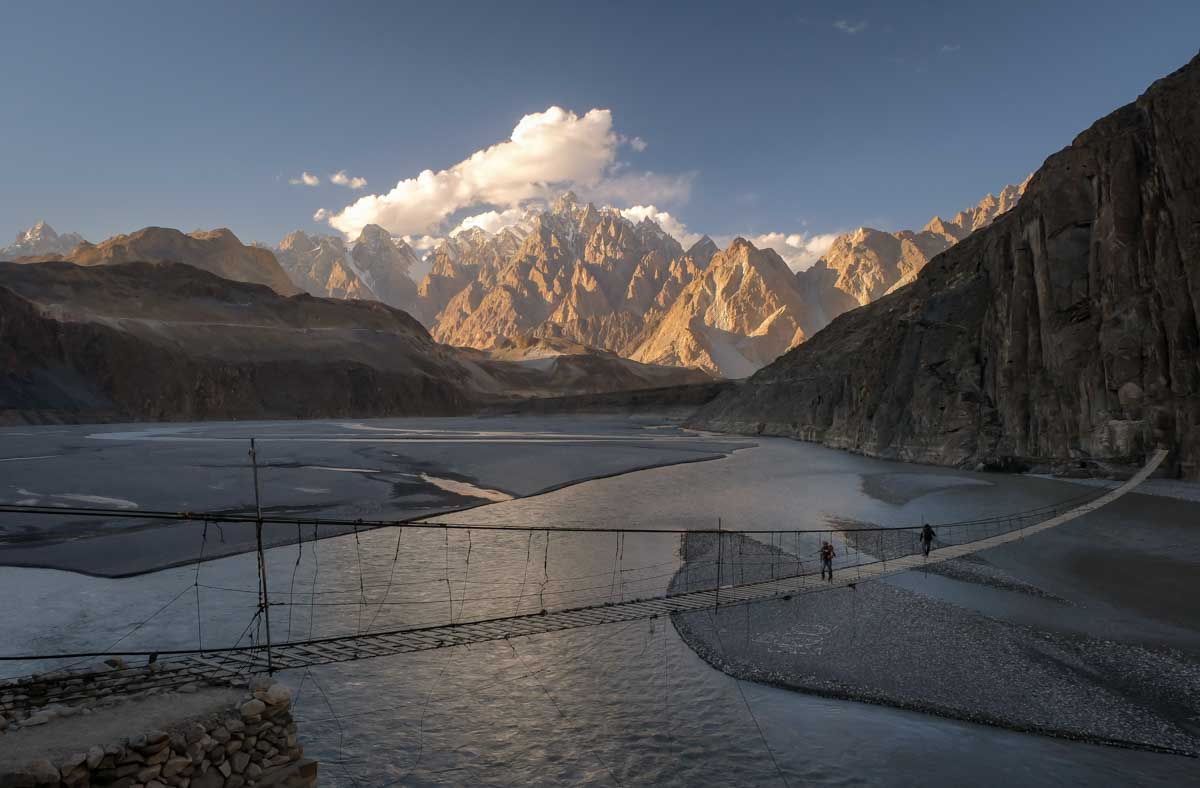 hunza valley tour motrobike husseini bridge