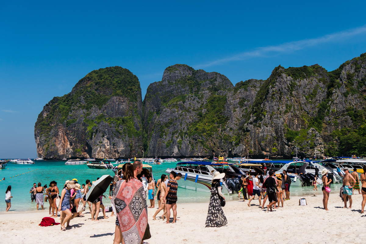 worst places to visit in southeast asia Maya Bay Thailand
