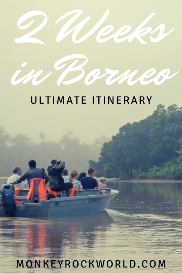 borneo two weeks itinerary pin